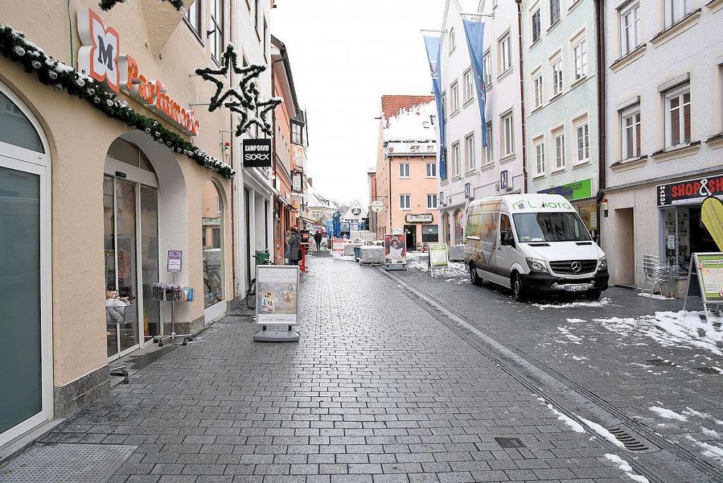 Auch der nördliche Tiel der Fußgängerzone bis hin zum Kemptener Tor ist mittlerweile fertiggestellt. Foto: Marketingsagentur Tenambergen