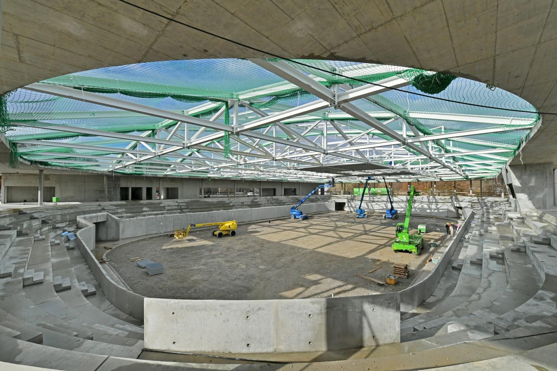 Blick in der Innere des neuen Kaufbeurer Eisstadions Bild: Marketingagentur Tenambergen