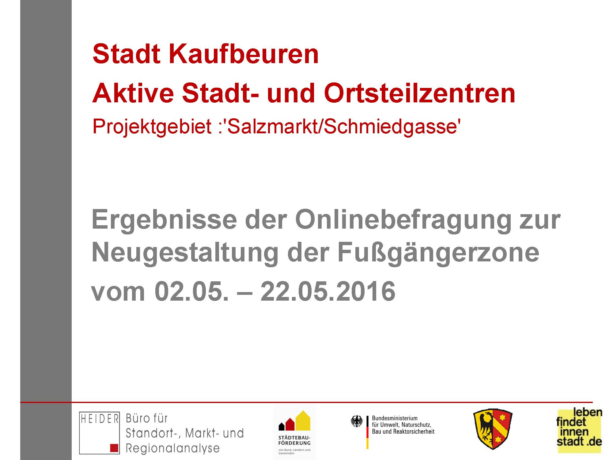Onlinebefragung 2016